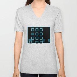 Neon Cube City Unisex V-Neck