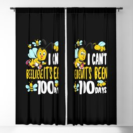 100 School Days 100th Day Of School 2021 Bee Honey Student  Blackout Curtain