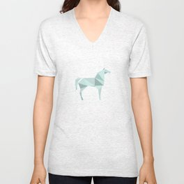 Blue Horse by Frzitin Unisex V-Neck
