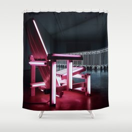 Electric chair. Shower Curtain