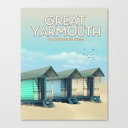 Great Yarmouth Beach travel poster Canvas Print