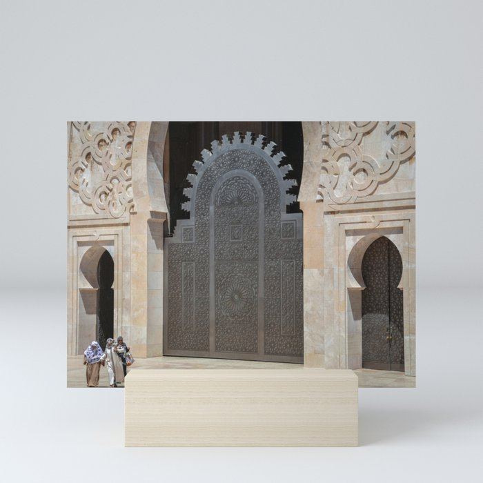 Hassan II Mosque Doorways Mini Art Print