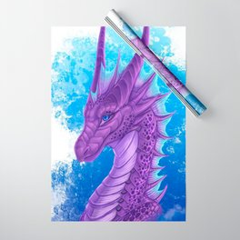 Purple Dragon Wrapping Paper