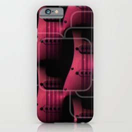 Pink Guitar Jumble iPhone Case