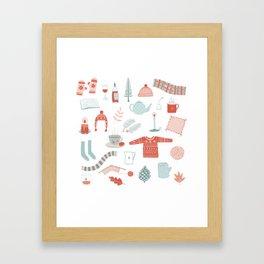 Hygge Cosy Things Framed Art Print