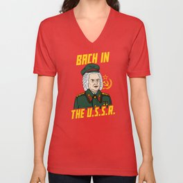 Bach In The USSR Unisex V-Neck