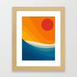 Abstract landscape art Framed Art Print