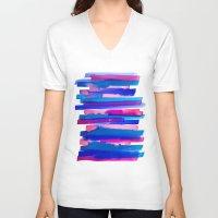 study V-neck T-shirts featuring Color Study by Jacqueline Maldonado