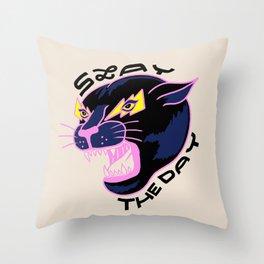 Slay the Day Throw Pillow