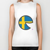 sweden Biker Tanks featuring Sweden Smile by onejyoo