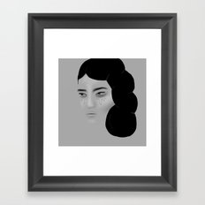 Grey Framed Art Print