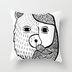 Werebear Throw Pillow