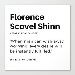 14   |Florence Scovel Shinn Quotes | 200126 Canvas Print