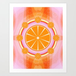 Orange Cream Soda Art Print