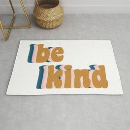 Be Kind Fun Retro Lettering Rug