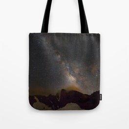 Milky way at 3400 meter hight. Scorpius and Sagitarius Tote Bag