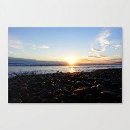 Ocean sunset - Malibu Canvas Print