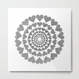 Center Your Heart Metal Print