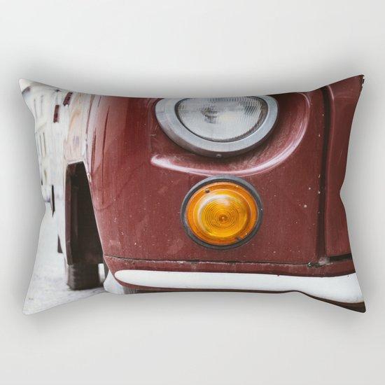 Retro Red Car Rectangular Pillow