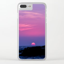 Hawaiian Sunset Over the Pacific Ocean Clear iPhone Case