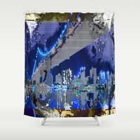 brooklyn bridge Shower Curtains featuring Brooklyn Bridge by Robin Curtiss