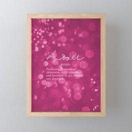 Moxie Definition - Pink Bokeh Framed Mini Art Print