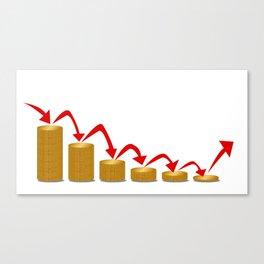 Falling Money Steps Canvas Print