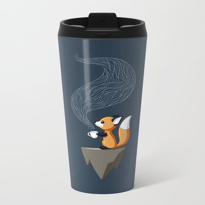 Fox Tea Metal Travel Mug