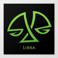 libra Canvas Prints featuring Libra by Groovyal