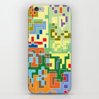 world maps iPhone & iPod Skins featuring Maps by Tony Vazquez