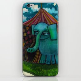 BLUE ELEPHANT.  iPhone Skin