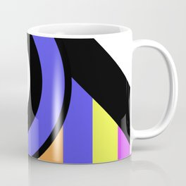Bold Geometry - Abstract, Geometric, Retro Art Coffee Mug