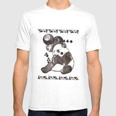 European Panda Mens Fitted Tee MEDIUM White