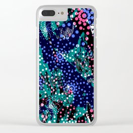 Abstract Mixed Media Series Sea Urchins 10 Clear iPhone Case