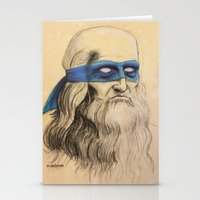 tmnt Stationery Cards featuring Leo TMNT by Rachel M. Loose