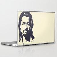 brad pitt Laptop & iPad Skins featuring Brad Pitt by Dora Birgis