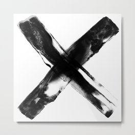 DIGITAL INDIAN INK - CROSS Metal Print