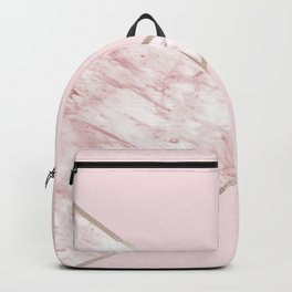 Blush pink geo - pink marble Backpack