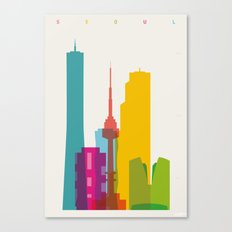 Shapes of Seoul accurate to scale Canvas Print