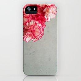 Corner  Pink Carnations iPhone Case
