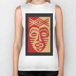 African Tribal Mask No. 3 Biker Tank