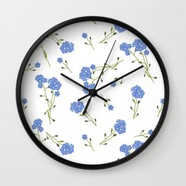 Forget me not II Wall Clock