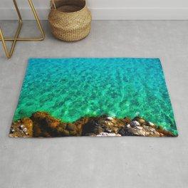 green waters sea lover Rug