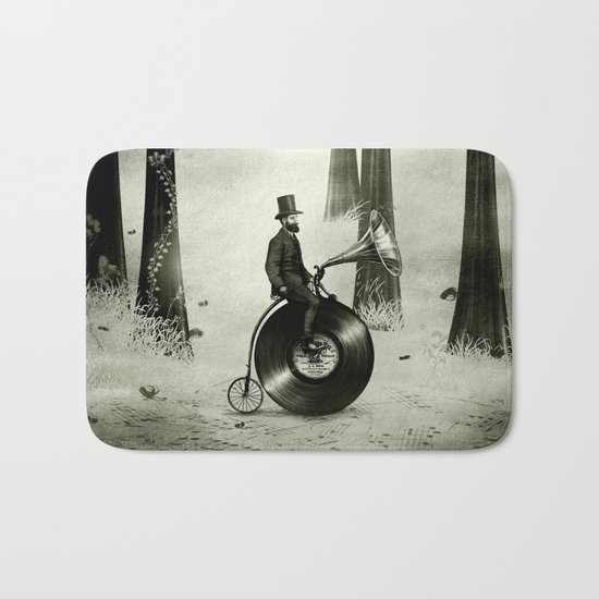 Music Man in the Forest, by Eric Fan and Viviana González Bath Mat