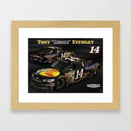 My #TonyStewart Bass_Pro_Shops design. Framed Art Print