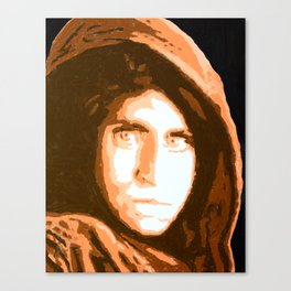 Afgan Girl Canvas Print
