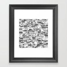 Shanghai wallpaper Framed Art Print