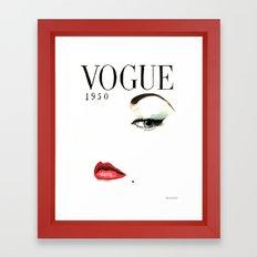 Vintage Vogue Magazine Cover. Fashion Illustration. Framed Art Print