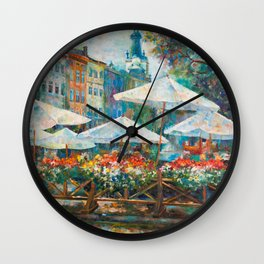Lviv city center Wall Clock