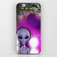 aliens iPhone & iPod Skins featuring Aliens by Aisling Rowland
